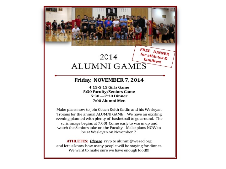 ALUMNI GAMES  NOV. 9